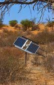 stock photo of semi-arid  - Solar panel used for energy in semi - JPG