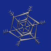 Metalic Snowflake