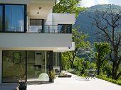 Exterior of modern luxury Villa poster