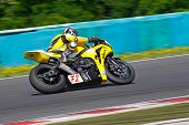HUNGARORING, HUNGARY - JUNE 19: An unidentified rider in action during ROSBK event at Hungaroring Ra