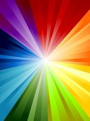 Rainbow Background in Vector art.