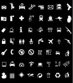 a lot of Signs/Symbols in black background