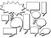 Speech Bubbles Set in vector design