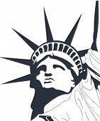 Estátua de liberdade do vetor