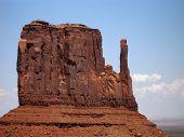 West Mitten Butte In Monument Valley Utah poster