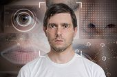 Face Detection And Recognition Of Man. Computer Vision And Machi poster