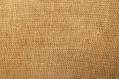 Closeup of linen fabric as a texture background