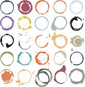 Multicolored vector grungy circles