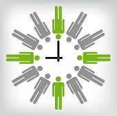 Menschliche Uhr konzeptionelle Abbildung