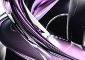 violette wires in the darkness