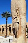 Statue of Ramses at Karnak temple Egypt