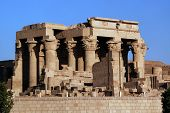 Ruins of ancient temple Kom-ombo Egypt