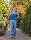 senior women exercise walking