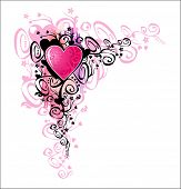 stock photo of asymmetrical  - Heart of love - JPG
