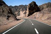 Wide empty road. Pleasant trip!