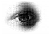 foto of human eye  - A vector halftone - JPG