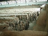 foto of qin dynasty  - Terra Cotta Warriors stand vigilantly before the 2000 - JPG