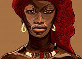Vector ilustración de una mujer africana