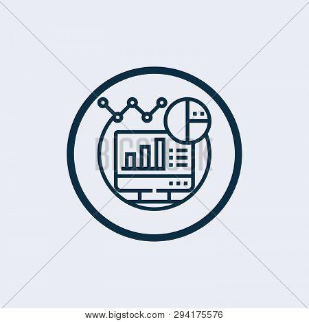 poster of Data Analysis Icon In Trendy Design Style. Data Analysis Icon Isolated On White Background. Data Ana