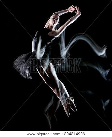 one caucasian young woman ballerina