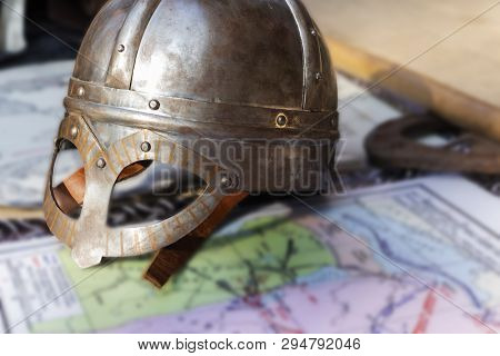 Knights Helmet And Mitten For