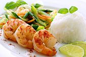 Prawn with Rice