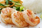 Spicy Prawn with Rice and Vegetable poster