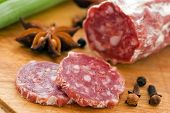 stock photo of flesh air  - Salami - JPG