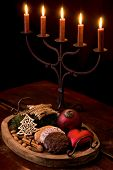 picture of flambeau  - Christmas Decoration with Candlelight Holder - JPG