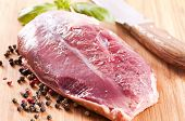foto of barbary duck  - duck fillet - JPG