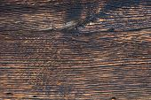 Closeup Pattern Of Old Oak Wood For Background Or Old Wooden Texture. Dark Old Oak For Vintage Table poster
