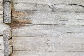 Old White Oak Wood For Background Or Old Grey Wooden Texture. Wooden Beams. Surface Eroded By Time.  poster