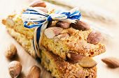 Italian biscotti Di Prato with almond