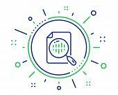 Diagram Chart Line Icon. Analytics Graph Sign. Market Analytics Symbol. Quality Design Elements. Tec poster