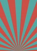 Sunlight Retro Narrow Vertical Background. Pale Red, Blue Color Burst Background. poster