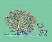 Tree and Deer