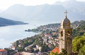 St. John And Chapel Of Salvation Of Virgin On Mount Pestingrad Against Picturesque Bay. Kotor. Monte poster