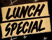 picture of truck-stop  - A Grungy Lunch Special Sign In A Cafe Or Restaurant - JPG