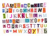 Alphabet - Magazine Cutouts
