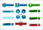 Vector buttons design elements