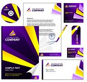 Editable corporate Identity template 3: Violet