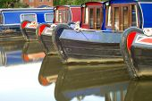 Canal Boats In Boat Yard