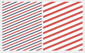 Simple Diagonal Red And Blue Stripes Seamless Vector Pattern. Red Lines On A White Background. Abstr poster