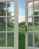 Countryside Window View