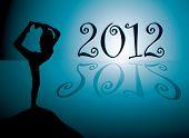 Постер, плакат: Йога фон с новым годом 2012 Дата
