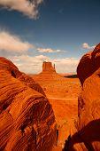 Between Rocks In Monument Valley Arizona poster
