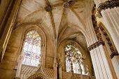 interior de Santa Maria da Vitoria mosteiro, Batalha, Estremadura, Portugal