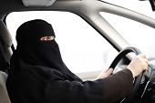 pic of niqab  - Arabic Muslim woman with veil and scarf  - JPG