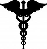 Caduceus symbol silhouette