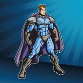 Member of a super hero team. This image is 1 of 4 that have the same color scheme (see portfolio for